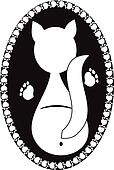 Logo white cat