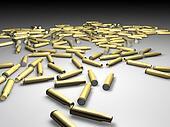 Blank rifle bullets
