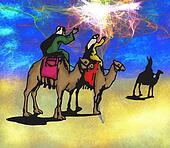 Wisemen Follow the Christmas Star