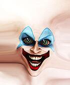 Evil Skin Face Clown