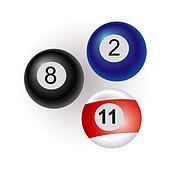 billiards balls