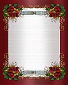 Christmas border or winter wedding