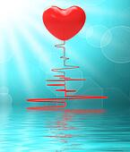 Heart On Electro Displays Healthy Relationship Or Passionate Mar