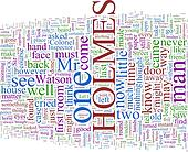 Word Cloud Based on Arthur Conan Doyle's Holmes Novels