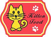 Pretty kitten food label