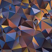 triangle. gradient  illusion of volume