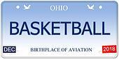 Basketball Ohio Imitation License Plate