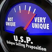 USP Unique Selling Proposition Gauge Level Different Special Qua