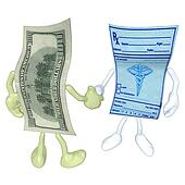 Money Medical Prescription Handshak