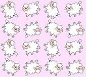 seamless lamb pattern