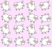 seamless lamb pattern