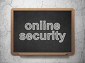 Privacy concept: Online Security on chalkboard background