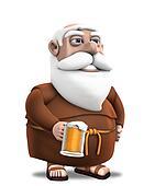 Monk with Beer Mug