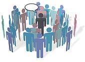 Social Media People Communication Meeting