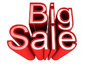 Big Sale promotion sign isolated 3d illustration