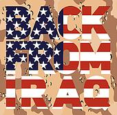 Back from Iraq american flag