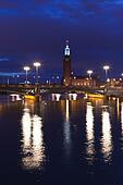 Stockholm City Hall at night