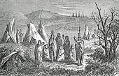 Camp of Sioux Indians