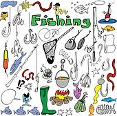cartoon fishing