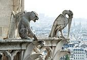 Stone demons from Notre Dame de Paris
