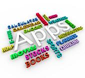 Apps - Application Word Collage