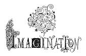 Imagination Typography Illustration