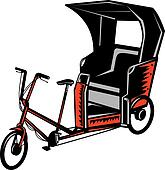 Cycle Rickshaw isolated