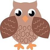 a brown single owl