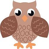 a brown single owl