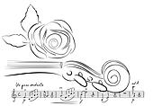 violin and rose lines