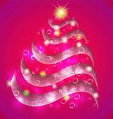 Christmas pink tree background