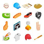 American football isometric 3d icons