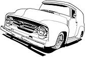 56 Ford F-100 Panel Truck