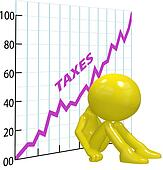 High tax increase chart ruin 3D taxpayer