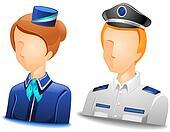 Pilot / Stewardess Avatars