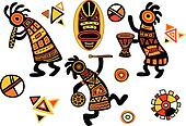 Vector african traditional patterns