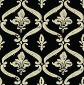 Vector Distressed Fleur De Lys Pattern