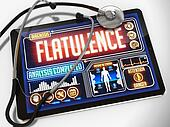 Flatulence on the Display of Medical Tablet.