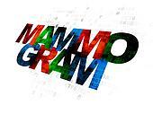 Medicine concept: Mammogram on Digital background