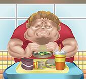 Fat man fast food