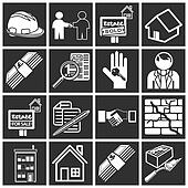 home buying icon set