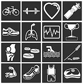 health and fitness icon set series