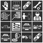 icons related to purchasing a car