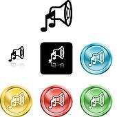 speaker sound media icon symbol