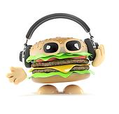 3d Burger headphones