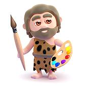 3d Caveman is an artist