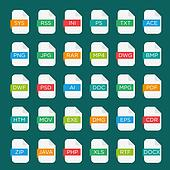 Icon set of file extensions