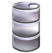 3D Silver Drum