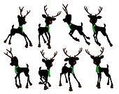 Rudolph The Red Nosed Reindeer Silhouette Illustration