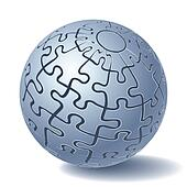 Jigsaw puzzle sphere